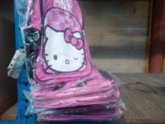 1 LOT TO CONTAIN 8 X HELLO KITTY PINK GIRLS RUCKSACKS