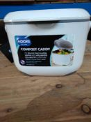 1 LOT TO CONTAIN 12 X ADDIS COMPOST CADDY FOR REMOVING FOOD WASTE
