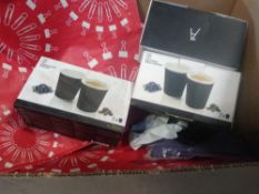 1 LOT TO CONTAIN 1 X BOX OF ASSORTED ITEMS INCLUDING CERAMIC THERMO PROTECT MUGS, STAPLES BAGS ETC.