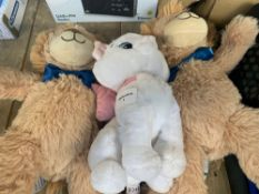 1 LOT TO CONTAIN 3 STUFFED KIDS TEDDYS