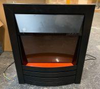 ZANUSSI ZEFIST1003B ELECTRIC INSET FIRE IN BLACK