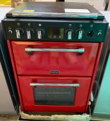 STOVES RICHMOND 600G GAS RANGE COOKER, RED