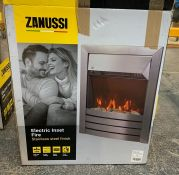 ZANUSSI ZEFIST1001SS ELECTRIC INSET FIRE IN STAINLESS STEEL FINISH