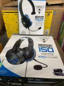 1 LOT TO CONTAIN 2 UNTESTED PS4 GAMING HEADSETS / EAR FORCE RECON CHAT / EAR FORCE RECON 150