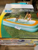 1 LOT TO CONTAIN 2 UNTESTED KID CONNECTION RECTANGULAR PADDLING POOL