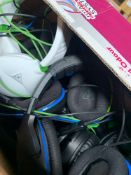 1 LOT TO CONTAIN 1 UNTESTED CONSOLE GAMING HEAD SETS