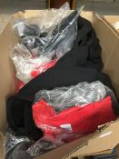 1 LOT TO CONTAIN ASSORTED T SHIRTS , JOGGING BOTTOMS , TOPS ETC - VARIOUS COLOURS - BOXED APPROX