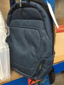 1 LOT TO CONTAIN 1 BLUE DENIM EFFECT MEDIUM SIZE RUCKSACK AS NEW -