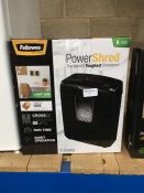 1 LOT TO CONTAIN 1 X FELLOWES 6 SHEET A4 POWERSHRED PAPER SHREDDER - BOXED