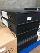 1 LOT TO CONTAIN 4 X STAPLES BLACK BOX FILES A4 SIZE -