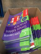 1 LOT TO CONTAIN GCSE MATHS REVISION BOOKS APPROX 10 AND APPROX 60 EARLY LEARNING TIMES TABLES BOOKS
