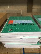 1 LOT TO CONTAIN 12 A4 LINED PUKKA PAD METALLIC JOTTA NOTEPADS -