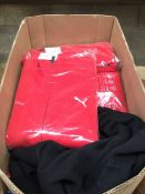 1 LOT TO CONTAIN APPROX 30 MEDIUM RED PUMA / VIRGIN ACTIVE TRACKSUIT TOPS IN THICK MATERIAL - BAGGED