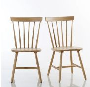 LA REDOUTE JIMI SOLID WOOD LADDER-BACK CHAIRS (SET OF 2)