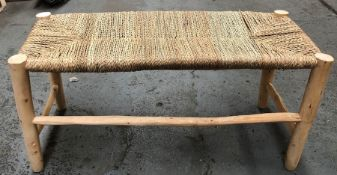 LA REDOUTE GHADA RAW WILLOW WOOD BENCH