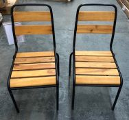 LA REDOUTE HIBA STEEL AND WOOD CHAIRS (SET OF 2)