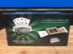 10 X AUTOMATIC CARD SHUFFLERS / COMBINED RRP £100.00 / UNTESTED CUSTOMER RETURN