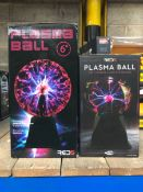 4 X PLASMA BALLS / COMBINED RRP £75.00 / UNTESTED CUSTOMER RETURNS