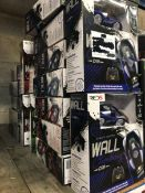 18 X WALL CLIMBING CARS - COLOURS VARY / COMBINED RRP £360.00 / UNTESTED CUSTOMER RETURNS
