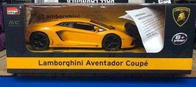 4 X RC LAMBORGHINI AVENTADOR COUPE'S / COMBINED RRP £120.00 / UNTESTED CUSTOMER RETURNS