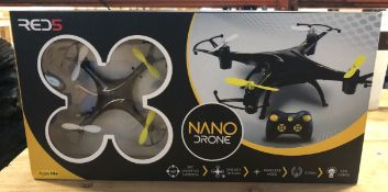 12 X NANO DRONES - COLOURS VARY / COMBINED RRP £180.00 / UNTESTED CUSTOMER RETURNS