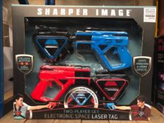 5 X SHARPER IMAGE ELECTRONIC LASER TAG SETS / COMBINDED RRP £175.00 / UNTESTED CUSTOMER RETURNS