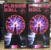 4 X PLASMA BALLS 6 INCH / COMBINED RRP £80.00 / UNTESTED CUSTOMER RETURNS