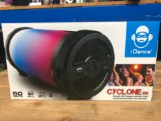 2 X IDANCE CYCLONE LED BLUETOOTH SPEAKERS - CYCLONE 300 / COMBINED RRP £60.00 / UNTESTED CUSTOMER