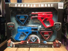 4 X SHARPER IMAGE ELECTRONIC LASER TAG SETS / COMBINDED RRP £140.00 / UNTESTED CUSTOMER RETURNS