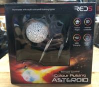 2 X COLOUR PULSING ASTEROIDS / COMBINED RRP £16.00 / UNTESTED CUSTOMER RETURNS