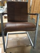 JOHN LEWIS CLASSICO LEATHER OFFICE/DINING CHAIR - TAN