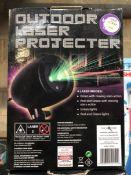 6 X OUTDOOR LASER PROJECTORS / COMBINED RRP £120.00 / UNTESTED CUSTOMER RETURNS