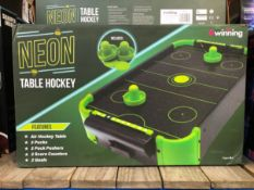 5 X NEON TABLE HOCKEY GAMES / COMBINED RRP £100.00 / UNTESTED CUSTOMER RETURNS