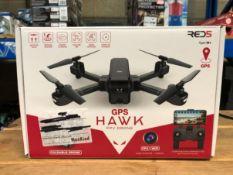 1 X HAWK FOLDING DRONE WITH GPS / RRP £149.00 / UNTESTED CUSTOMER RETURN
