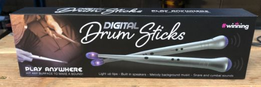 7 X DIGITAL DRUM STICKS / COMBINED RRP £105.00 / UNTESTED CUSTOMER RETURNS