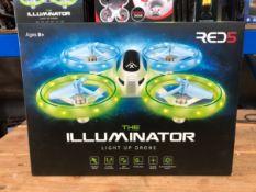 22 X ILLUMINATOR LIGHT-UP DRONES / COMBINED RRP £550.00 / UNTESTED CUSTOMER RETURNS
