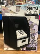 10 X DIGITAL ATM MONEY BOXES / COMBINED RRP £200.00 / UNTESTED CUSTOMER RETURN
