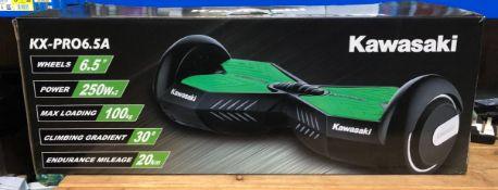 1 X KAWASAKI KX-PRO 6.5A BALANCE SCOOTER / RRP £250.00 / UNTESTED CUSTOMER RETURN