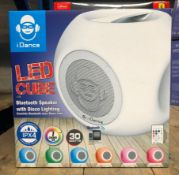 2 X LC-100 LED SPEAKER CUBES / RRP £80.00 / UNTESTED CUSTOMER RETURNS