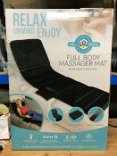 4 X FULL BODY MASSAGER MATS / COMBINED RRP £236 / UNTESTED CUSTOMER RETURNS