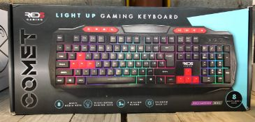 5 X COMET GAMING KEYBOARDS / COMBINED RRP £125.00 / UNTESTED CUSTOMER RETURNS