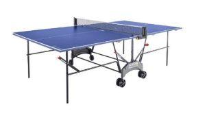 1 x ASSEMBLED KETTLER AXOS 1 OUTDOOR BLUE TABLE TENNIS TABLE