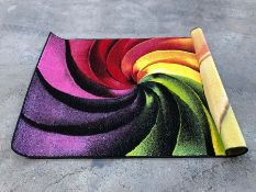 LA REDOUTE JEWEL BRIGHT SPIRAL HAND CARVED RUG / SIZE: 120 X 170CM