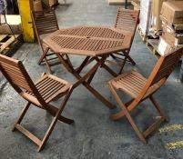 JOHN LEWIS VENICE 4 SEATER GARDEN TABLE & CHAIRS SET