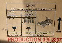 JOHN LEWIS COOPER DOUBLE BED FRAME IN OAK