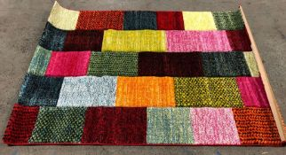 LA REDOUTE GEO COLOURFUL BRICK HAND CARVED RUG / SIZE: 120 X 170CM