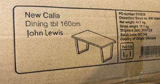 JOHN LEWIS CALIA 6 SEATER DINING TABLE