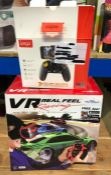 2 X GAMING PRODUCTS, 1 X VR HEADSET AND 1 X PHONE CONTROLLER / COMBINED RRP £40.00 / UNTESTED