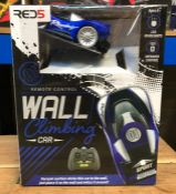 9 X WALL CLIMBING CARS - COLOURS VARY / COMBINED RRP £180.00 / UNTESTED CUSTOMER RETURNS