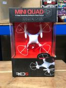 6 X MINI QUAD FLYING TOY - COLOURS VARY / COMBINED RRP £84.00 / LIKE NEW